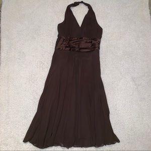 Maggie London Petites Brown Halter Dress